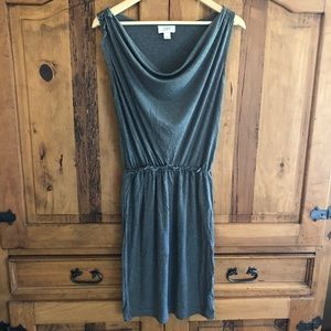 Ann Taylor LOFT Stretch Midi Dress Scoop Neck S